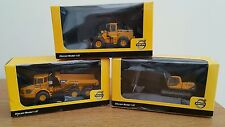 Set of 3 volvo 1:87 scale die-cast plant machinery