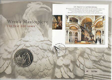 Wren's Masterpiece The First 300 Years Commemorative Medal Cover issued Royal Mi