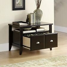 Wood File Cabinet 2 Drawer Home Office Filing Storage Furniture Lateral Brown