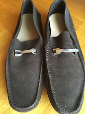 A. Testoni Halbschuhe Slipper Moccasin Wildleder braun UK 12 EUR 46 US 13