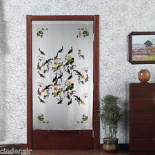 New Free Shipping Water Ink Fish Painting Japanese Noren Door Curtain D8262