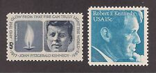 JOHN F KENNEDY & ROBERT F KENNEDY - U.S. MEMORIAL POSTAGE STAMPS -MINT CONDITION