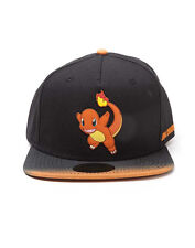 OFFICIAL POKEMON CHARMANDER 004 RUBBER PATCH SNAPBACK CAP WITH DIP DYE VISOR
