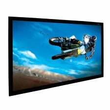 "58"" X 100"" WHITE Projection Screen Material KIT, (comes with the border)"