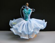 Barbie Dress up Blue Ballerina Ballet Outfit Handmade Costumes Clothes for Dolls