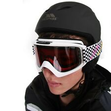 NEW TRESPASS UNISEX ADULTS KIDS SKI SNOW BOARDING HELMETS  BLACK WHITE M L