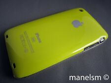 Funda Carcasa dura para iphone 3gs/3g Amarilla con logo de apple