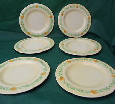 6 pretty vintage Carlton ware yellow buttercup small plates display use