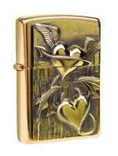 Zippo ® Feuerzeug Heart of Heaven and Hell Brass high polished