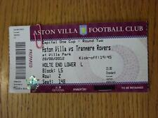 28/08/2012 Ticket: Aston Villa v Tranmere Rovers [Football League Cup] (Complete
