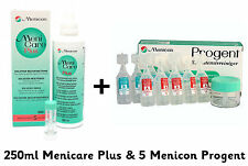 Menicare Plus Contact Lens Solution 250ml & 5 Progent Intensive Cleaner Menicon