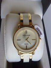NEW Anne Klein AK/2812IVGB Gold Tone Ivory Dial Bracelet Diamond Women's Watch