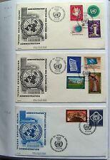 UNO Genf   FDC - Sammlung Mi 1 - 304, 174 Stück  - siehe Beschreibung