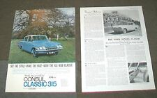 FORD CONSUL CLASSIC 315 ADVERTISEMENT & DESCRIPTION THE FIELD 1961