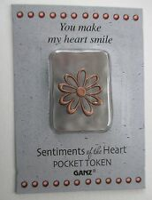 d You make my heart smile SENTIMENTS OF THE HEART Pocket Token Charm Ganz