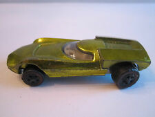 1968 HOTWHEELS  TURBO FIRE LIME GREEN DIECAST CAR - REDLINE TIRES -