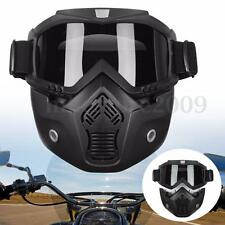 Gray Lens Detachable Modular Motorcycle Helmet Nose Face Mask Shield Goggles New