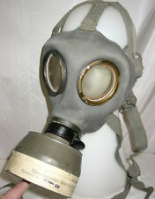 Original WWII Bulgarian combat army gas mask with case, DVF 1939 German model