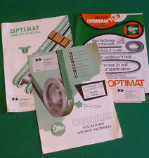 EARLY OPTIMAT BELT CATALOGUES AND SPECIFICATION LISTS (CONVEYOR VEE BELTING)