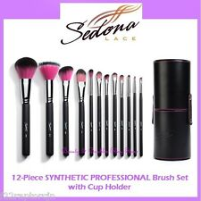 NEW Sedona Lace 12-Piece SYNTHETIC PROFESSIONAL Brush Set FREE SHIPPING Makeup