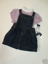 NWT Girls Ralph Lauren Polo Denim Jumper Dress Mockneck Button Shirt Outfit 12M