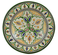 "Moroccan Ceramic Plate Salad Pasta Bowl Serving Handmade Wall Hanging 8"" Small"