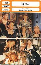 Fiche Cinéma. Movie Card. Olivia (France) 1951 Jacqueline Audry