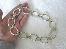 riesige Design-Halskette, 835 er Silber, teil-vergoldet, Juweliers-Arbeit