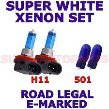 FITS AUDI A4 2001-2004   SET  H11  501  SUPER WHITE XENON LIGHT BULBS