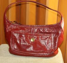 COACH Purse Red Patent Leather Hobo Handbag Bag Gold Hardware