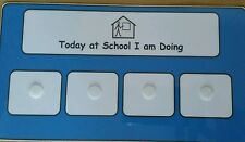 Today At School I Am Doing Board & 40 Symbols Visual Aid for Autism/ADHD/ADD/SEN