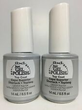 2 PACKS - IBD Soak off Just Gel Polish LED UV Nails - TOP COAT- 0.5 oz/ 15 ml