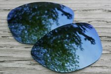 Mirrored Navy Blue Polarized Replacement Sunglass Lenses for Oakley Dispatch 2