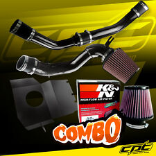 08-15 Lancer Turbo 2.0L Evo X 10 Black Cold Air Intake + K&N Air Filter
