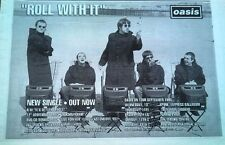 """OASIS Roll With It 1995  UK Press ADVERT 12x8"""""""
