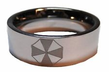 RESIDENT EVIL UMBRELLA ETCHED LOGO Stainless Steel BAND RING SIZE 11