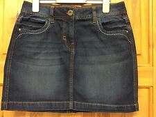 Denim Blue Mini Skirt Size UK 10