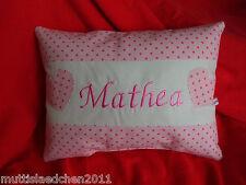 Namenskissen Kuschel /Dekokissen 24x20cm mit Wunschname  für Mädchen in rosa
