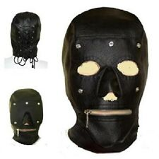 Fetish Bondage Gimp Hood Sensory Deprivation Hood Mask Faux Leather smab19