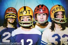 """RED HOT CHILI PEPPERS """"BAND WEARING FOOTBALL HELMETS"""" POSTER FROM ASIA"""