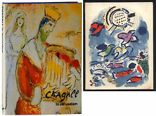 Jerusalem windows Chagall Hadassah Synagogue stained glass 2 books lithograph
