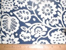 Home Dec Fabric Beautiful White flowers & Leaves on yummy Blue allover