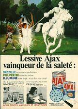 """Publicité Ancienne """" Lessive AJAX  1968 (  P. 31 )"""