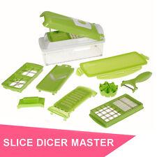 12 Pc Multi Food Fruit & Veg Processor Slicer Dicer Nicer Cutter Copper Peeler
