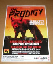 THE PRODIGY  - rare tour concert / gig poster - nov 2015 Public Enemy