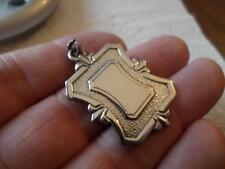 Reloj de bolsillo Vintage inglés plata esterlina ley cadena de Fob medalla