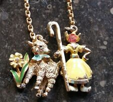 Vintage Coro Necklace MARY & HER LITTLE LAMB