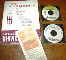 1972 Olds Service Manual Toronado 442 Delta 88 98 Cutlass Royale F-85 & Warranty