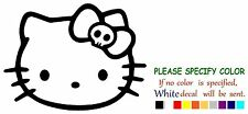 Hello Kitty Head Face Skull Bow Adhesive Vinyl Decal Sticker Car Truck Window 7""