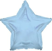 "18"" Solid Light Blue Star Shape Balloon Wedding Baby Shower Birthday Over Hill"